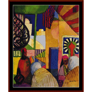 at the bazaar - macke cross stitch pattern by cross stitch collectibles