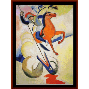st. george - macke cross stitch pattern by cross stitch collectibles