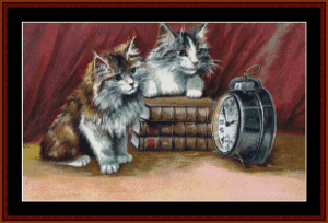 waiting for lunch - vintage art cross stitch pattern by cross stitch collectibles