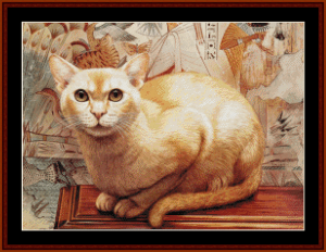 cat, perching - vintage art cross stitch pattern by cross stitch collectibles