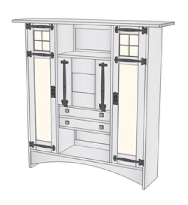 First Additional product image for - Harvey Ellis/Gustav Stickley Bookcase Desk Plans