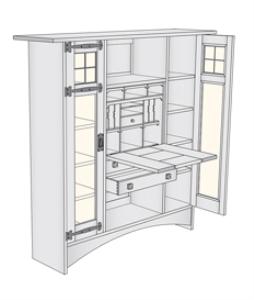 harvey ellis/gustav stickley bookcase desk plans