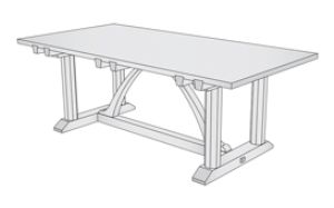 ernest gimson dining table plans