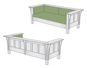 L. & J. G. Stickley Prairie Settle Plans | Other Files | Everything Else