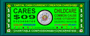 cares=$09 cash currency childcare