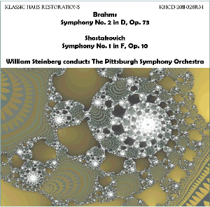 brahms: sym. no 2/shostakovich: sy. no. 1 - pittsburgh symphony orchestra/william steinberg