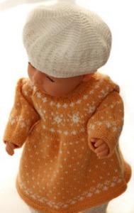 DollKnittingPatterns 0148D FREDRIKKE - Kleid, Unterhose, Schuhe, Mütze und Schal-(Deutsch)   Crafting   Knitting   Other