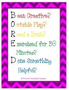 bored activity cards