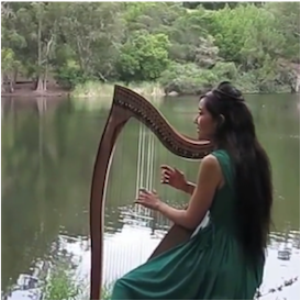 """willow tree (i will bow and be simple)"" sheet music (arrangement for celtic harp and soprano voice in c major)"
