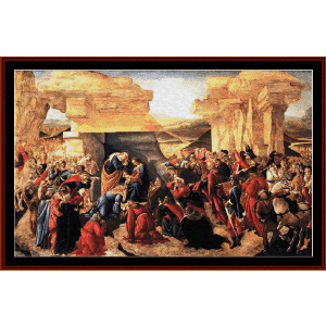 adoration of the magi, 1500 - botticelli cross stitch pattern by cross stitch collectibles