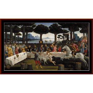 art in tuscany - botticelli cross stitch pattern by cross stitch collectibles