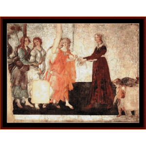 venus and the graces - botticelli cross stitch pattern by cross stitch collectibles