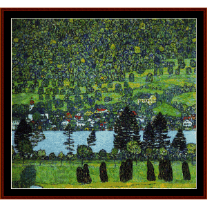Mountain Slope at Unterach - Klimt cross stitch pattern by Cross Stitch Collectibles | Crafting | Cross-Stitch | Wall Hangings