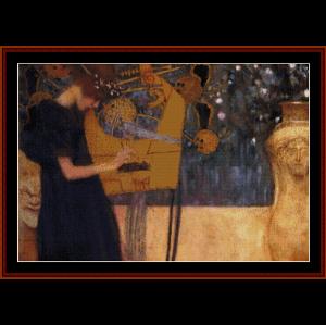 Music - Klimt cross stitch pattern by Cross Stitch Collectibles | Crafting | Cross-Stitch | Wall Hangings