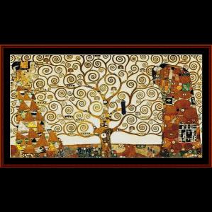 tree of life frieze - klimt cross stitch pattern by cross stitch collectibles
