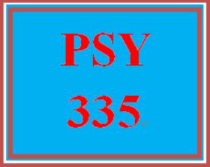 PSY 335 Week 3 Week Three Quiz | eBooks | Education
