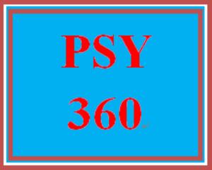 PSY 360 Week 1 One minute paper | eBooks | Education