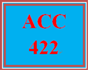 ACC 422 Week 1 Disclosure Analysis Pap | eBooks | Education