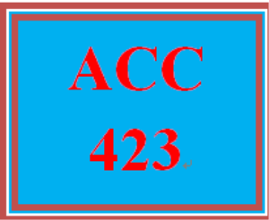 ACC 423 Week 3 Textbook Problems | eBooks | Education