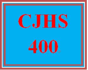 CJHS 400 Entire Course | eBooks | Education