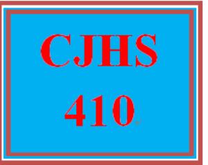 CJHS 410 Entire Course | eBooks | Education