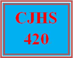 CJHS 420 Entire Course | eBooks | Education