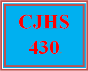 CJHS 430 Entire Course | eBooks | Education
