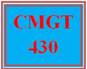 cmgt 430 week 2 individual: applying risk management consulting