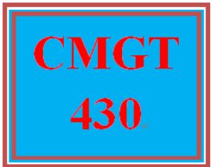 CMGT 430 Entire Course | eBooks | Education