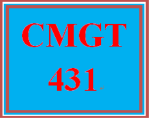 CMGT 431 Week 3 Learning Team Test Questions | eBooks | Education