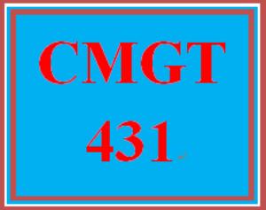 cmgt 431 week 4 individual applying software threat analysis and mitigation