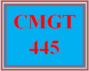 CMGT 445 Week 5 Individual: Implementation Plan Expansion | eBooks | Education