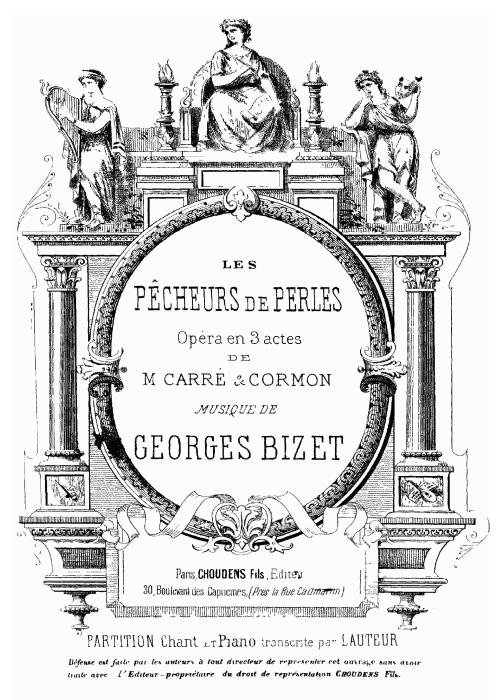 First Additional product image for - Me voilà seule dans la nuit... Comme autrefois dans la nuit. Soprano Aria (Leïla). G. Bizet: Les pêcheurs de perles, Act II, No. 7, Vocal Score, A4. Ed. Schirmer, French/Engl.(PD)