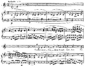 me voilà seule dans la nuit... comme autrefois dans la nuit. soprano aria (leïla). g. bizet: les pêcheurs de perles, act ii, no. 7, vocal score, a4. ed. schirmer, french/engl.(pd)