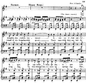 Les tringles des sistres tintaient (Gypsie Song). Aria for Mezzo/Soprano (Carmen). G. Bizet: Carmen, Act III Sc. 5. Vocal Score, A4. Ed. Schirmer. French/Engl. PD. | eBooks | Sheet Music