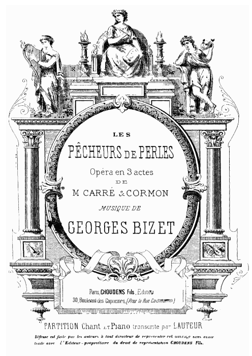 First Additional product image for - O Dieu Brahma!. Soprano Aria (Leïla). G. Bizet: Les pêcheurs de perles, Act I, Scene 8. Vocal Score, Ed. Schirmer. French (PD).