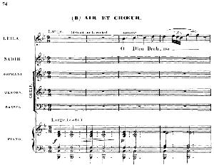 o dieu brahma!. soprano aria (leïla). g. bizet: les pêcheurs de perles, act i, scene 8. vocal score, ed. schirmer. french (pd).