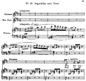 Près des remparts de Séville. Aria for Mezzo/Soprano (Carmen). G. Bizet: Carmen, Act I Sc. 10. Vocal Score, Ed. Schirmer. French/engl. PD.   eBooks   Sheet Music