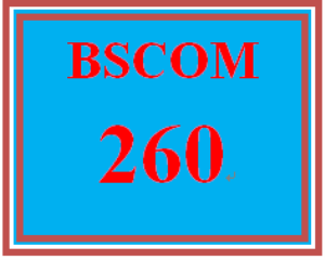bscom 260 week 3 application letter