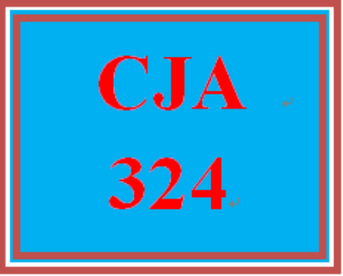 First Additional product image for - CJA 324 Week 1 Weekly Summary