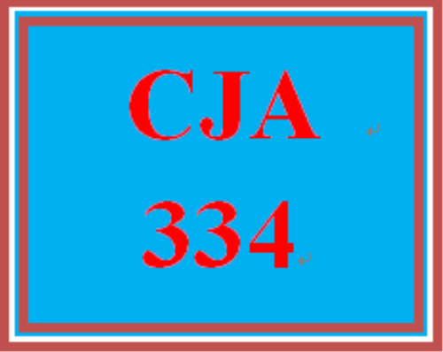 First Additional product image for - CJA 334 Entire Course