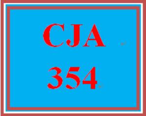 CJA 354 Entire Course | eBooks | Education