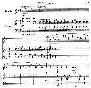 je veux vivre dans le rêve. arietta for soprano (juliet). ch. gounod: romeo and juliet,  act i, no. 3. vocal score, ed. schirmer (1897). french/english