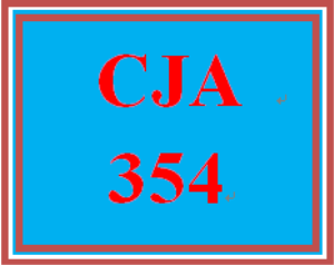 CJA 354 Week 4 Rough Draft for Final Paper | eBooks | Education