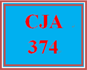 cja 374 week 4 juvenile justice process and corrections
