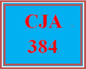 CJA 384 Entire Course | eBooks | Education