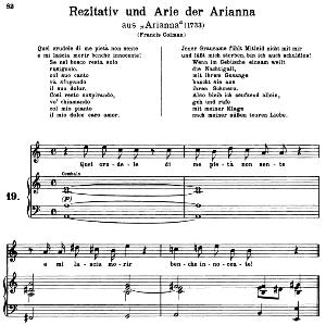 Quel crudele pietà di me non sente: Soprano Aria (Arianna) in A minor (original key). G.F.Haendel. Arianna HWV 32, Vocal Score, Ed. Peters, Gesange für eine frauenstimme, Ed. H. Roth (1915). 5pp. Italian. (A4 portrait) | eBooks | Sheet Music