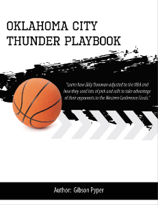 Billy Donovan Oklahoma City Thunder Playbook9 | eBooks | Sports
