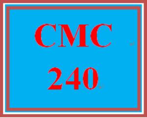 CMC 240 Week 1 Project Topic Identification | eBooks | Education