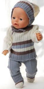 dollknittingpatterns 0149d sophia - genser, lue, bukse og sokker-(norsk)